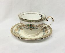 Aynsley Henley China Cup & Saucer Green Mark