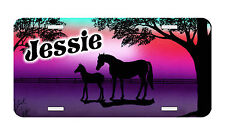Personalized Monogrammed Custom License Plate Auto Car Tag Horse 27 Purple