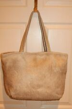 NEW! BONNIE MARTIN DESIGNS Austin TX Designer Gold Cowhide Shopper Tote Bag
