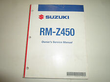 2008 Suzuki RM-Z450 Owners Service Manual WORN STAINED MINOR DAMAGE FACTORY OEM