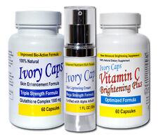 Ivory Caps System1 Skin Whitening Set - Glutathione & Vitamin C Pills + Cream