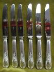 6 couteaux à dessert metal argente rocaille (dessert knives) F Frionnet