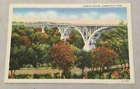 MENDOTA BRIDGE, MINNEAPOLIS MN vintage unposted linen postcard - Minnesota River