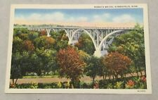 MENDOTA BRIDGE, MINNEAPOLIS MN vintage unposted linen postcard - Minnesota River