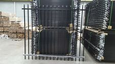 NEW 2100mm Black Heavy Duty Security Fencing Fence Panels