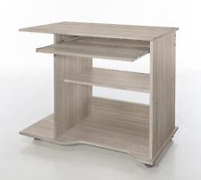 Wilmes: PC-Tisch + Rollen - Schreibtisch Computertisch Bürotisch - Eiche Sägerau