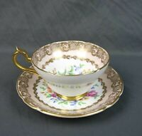 Vintage Stanley Fine Bone China Floral Gold Trim Tea Cup & Saucer England