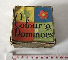 Vintage Boxed (Tatty) Colour Dominoes Tiles for Abbatt Toys England 1950's