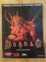 Diablo PS1 Prima Official Strategy Guide-Steve Honeywell, EXTREMELY RARE
