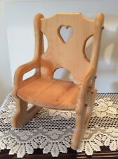 Vintage Collectible Handcrafted Miniature Doll/Bear Oak Rocking Chair