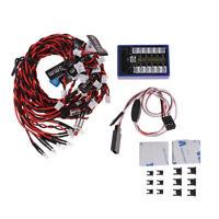 Sistema di luci a LED 12 luci stroboscopiche per camion RC 1/10 1/8 Traxxas