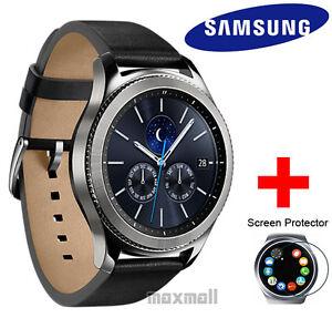 Genuine Samsung Gear S3 Classic LTE Smart Watch SM-R775 + Free 3 Screen Guards