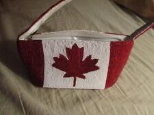 Canadian Maple Leaf, full beaded purse, Canadian Flag