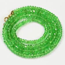 Tsavorite Green Garnet Faceted Rondelle Beads 17 inch strand