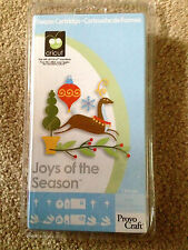 Cricut Cartridge JOYS OF THE SEASON * CHRISTMAS * WINTER * CARD * NOT LINKED NEW