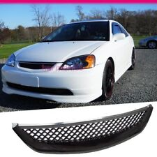 Fits 2001-2003 Honda Civic Coupe  Sedan Type R ABS Front Mesh Hood Grill