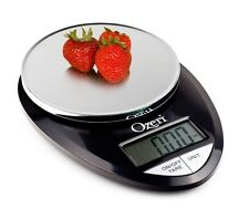 Digital Kitchen Food Scale Ozeri Precise Pro 1g to 12lb Capacity LCD Black Chrom