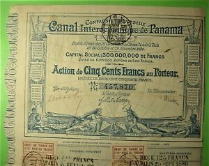 Panama Canal Bond issued by French Company which failed