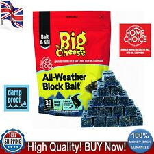 More details for big cheese 30 x 10g rat poison bait mouse killer all-weather block bait stv213