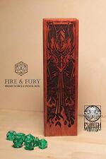 Fire & Fury - RPG Dice and Pencil Box - Brazilian Cherry (Jatoba)