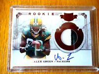 2011 PATCHES AND PLATES ROOKIE PATCH AUTO ALEX GREEN GREEN BAY PACKERS