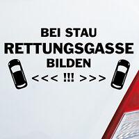 Auto Aufkleber Bei Stau Rettungsgasse bilden! Feuerwehr Sticker Leben retten 847
