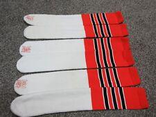 Twin City Athletic Tube Socks Adult NC-1500 One Size ORANGE BLACK - THREE PAIRS