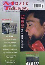 SAKAMOTO / ROLAND R70 / KURZWEIL K2000Music TechnologyJul1992
