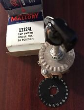 "Mallory 13124L 24 Position ""Rotary"" Single Circuit Tap Switch."