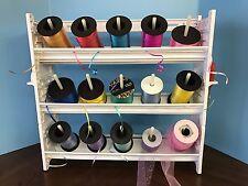 NEW Curling Ribbon Holder Storage Rack Organizer WHITE PLASTIC 3-Shelf, MRHC3