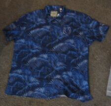NWT Men s Tommy Bahama short Sleeve Button SILK Shirt Colts Palm  145 XXL  3XL e36514848