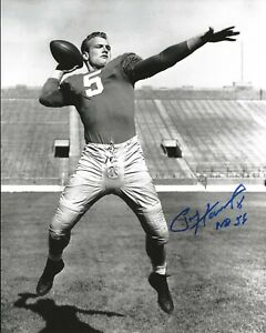 PAUL HORNUNG Signed Autographed 8x10 Photo Notre Dame Fighting Irish