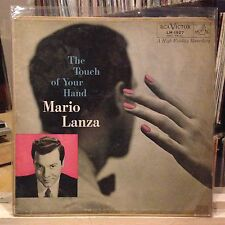 [CLASSICAL]~EXC LP~MARIO LANZA~A Touch Of Your Hand~[1955~RCA Issue]~MONO~