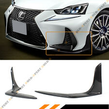 FOR 2017-18 LEXUS IS200T IS350 IS300 F SPORT CARBON FIBER FRONT BUMPER SPLITTERS