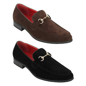 Mens Horsebit Loafers Suede Leather Lined Slip on Classic Driving Shoes UK Sizes