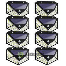 100 LED Outdoor Solar PIR Motion Sensor Wall Light Waterproof Garden Yard Lamp