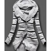 Womens's Warm Long Coat Fur Collar Hooded Jacket Slim Winter Parka Outwear Coats