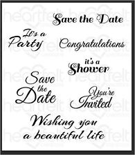 Heartfelt Creations Cling Stamp Set ~ ALL GLAMMED UP SENTIMENTS ~  HCPC-3707