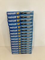 15 x Vhs Blank Tapes USED 180 MAXELL M 3 Hour Video Tapes E-180M MEGA POWER TAPE