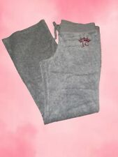 Juicy Couture Grey Tracksuit Bottoms With Crown Diamante
