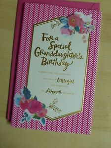 American greetings card- Happy Birthday for a special Granddaughter