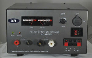 MFJ-4275MV Heavy Duty 75A Switching Power Supply with Adj. Voltage and Meters