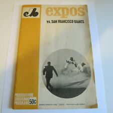 1969 Montréal Expos vs San Francisco Giants PROGRAM (1st yr MLB) WILLIE MAYS VG