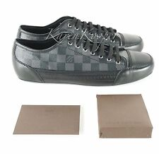 NEW AUTH LOUIS VUITTON MEN DAMIER GRAPHITE ELAN LOW SNEAKER SHOES 9.5 LV/10.5 US