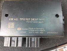 2011-2014 VW TOUAREG REAR BUMPER TRAILER HITCH CONTROL MODULE UNIT 7P0907383F