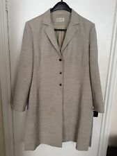 Ladies Platinum Stylish Evening Womens Size 20 Coat Knee Length Three Button
