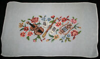 Twinkle's Needlepoint Gallery - Vintage Floral with Musical Instruments 20x34