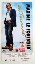 MAXIME LE FORESTIER billet ticket concert Marseille Opéra 15/03/1996