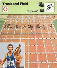 1977 Sportscaster Card Track and Field Guy Drut # 01-05 NRMINT.