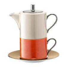 LSA International Polka Tea for One and Saucer 0.34L/0.25L Metallics Assorted